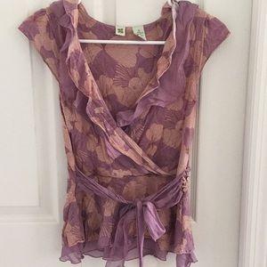 Peplum style blouse